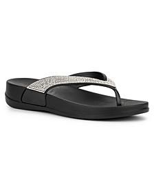 Women's Davoli Rhinestone Flip Flop Sandals