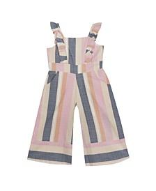 Toddler Girls Stripe Jumpsuit