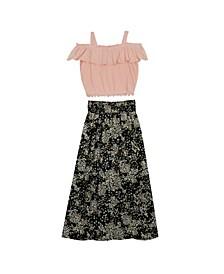 Big Girls Tiered Maxi Skirt Set, 2 Piece