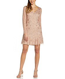 Beaded Fit & Flare Dress