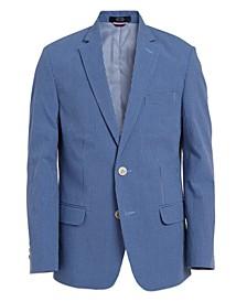 Big Boys Micro Seersucker Gingham Jacket