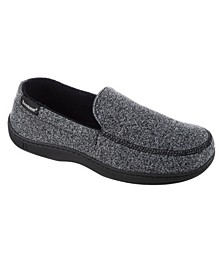 Isotoner Men's Knit Ethan Moccasin Slippers
