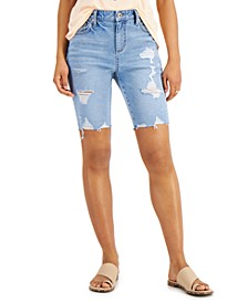 Ripped Denim Bermuda Shorts, Created for Macy's