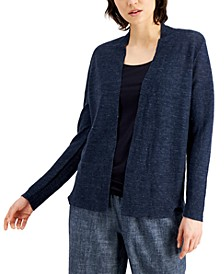 Organic Linen Open Cardigan