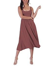 Petite Banded Waist Knit Midi Dress