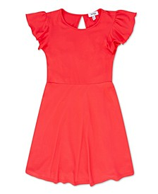 Big Girls Flutter Sleeve Dress