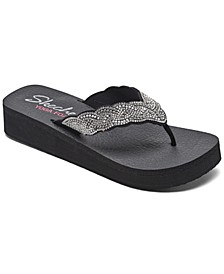 Women's Vinyasa - Happy Pearl Flip-Flop Thong Athletic Sandals from Finish Line