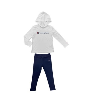 Champion TODDLER GIRLS SCRIPT HOODED JERSEY AND ESSENTIAL LEGGING, SET OF 2