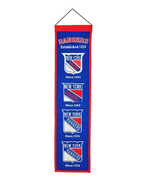 Winning Streak New York Rangers Heritage Banner