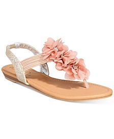Sari Floral Embellished Flat Sandals, Created for Macy's