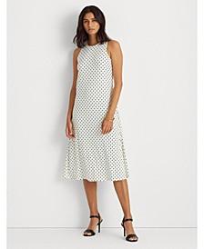 Polka-Dot Jersey Midi Dress