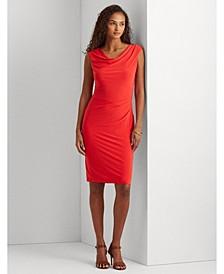 Jersey Cowl Neck Dress