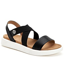 Flixii Memory Foam Flat Sandals, Created for Macy's
