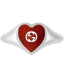Red Heart Ring in Sterling Silver