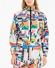 Printed Zip-Front Track Jacket