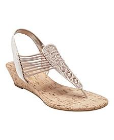 Women's Gabe Beaded Thong Sandals