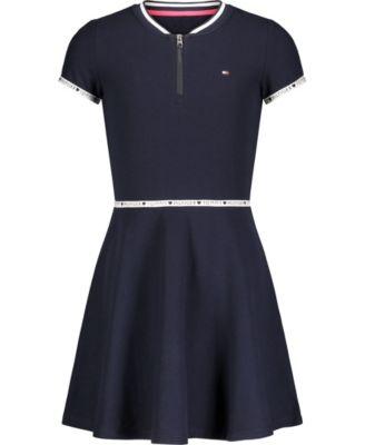 Big Girls Quarter Zip Dress