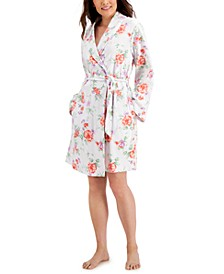 Lace-Sleeve Chemise Nightgown & Printed Robe, Created for Macy's