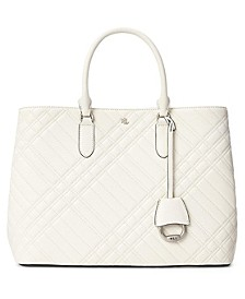 Marcy Plaid Quilted Large Satchel