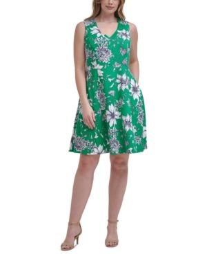 Plus Size Printed A-Line Dress