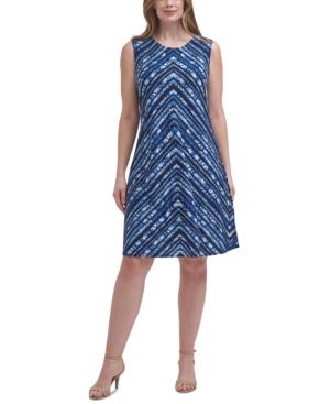 Plus Size Printed Sheath Dress