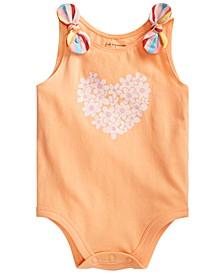Baby Girls Daisy Heart Bodysuit, Created for Macy's