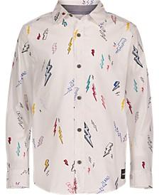 Big Boys Printed Bolt Long Sleeve Shirt