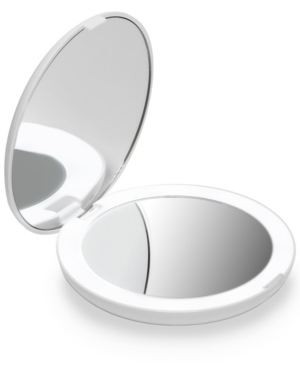 """Fancii Lumi 5"""" Compact Mirror With Led Lights In White"""