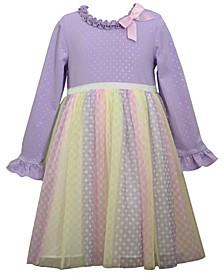 Little Girls Knit Boidce with Skirt