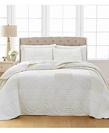 Wedding Rings 100% Cotton Twin Bedspread, Created for Macy's
