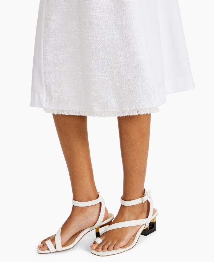 Alfani Petite Contrast-Panel Skirt, Created for Macy's & Reviews - Skirts - Petites - Macy's