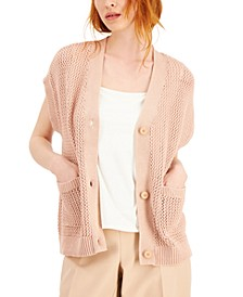 Cotton Short Dolman-Sleeve Cardigan, Created for Macy's