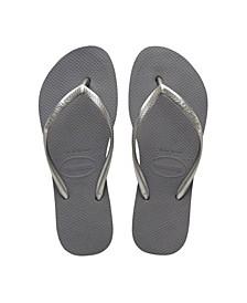 Women's Slim Flatform Flip Flop Sandals
