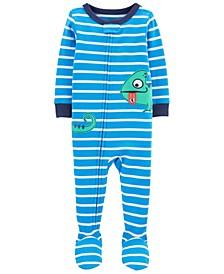 Baby Boys Chameleon Cotton Footie Pajamas