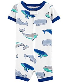 Baby Boys Whale Cotton Romper Pajamas