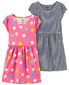 Toddler Girls Jersey Dresses, Pack of 2
