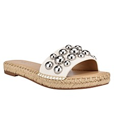 Women's Blast Studded Espadrille Slide Sandals