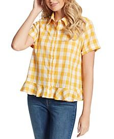 Nellie Cotton Plaid Shirt
