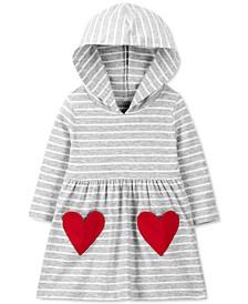 Baby Girls Hooded Heart Pocket Dress