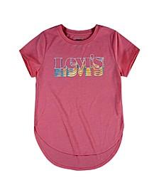 Big Girls High-Low Logo T-shirt
