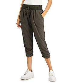 Juniors' Ruched-Hem Jogger Pants