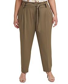 Plus Size Tie-Detail Pants