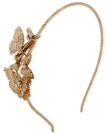 Gold-Tone Crystal Filigree Butterfly Headband