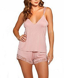 Women's Josie Modal Cami Short Trimmed in Lace, Set of 2