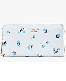 Spencer Dainty Bloom Zip-Around Leather Continental Wallet