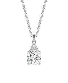 Moissanite Cushion Pendant 1-3/4 ct. t.w. Diamond Equivalent in 14k White Gold