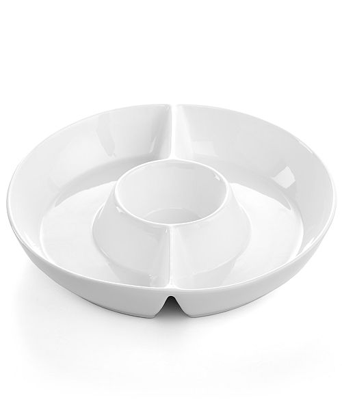 The Cellar CLOSEOUT! Whiteware Crudite Server, Created for Macy's