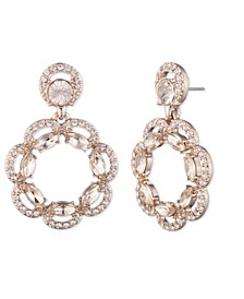 Rose Gold and Silk Crystal Drop Earring