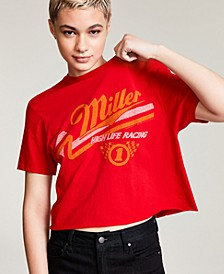 Cotton Miller Racing-Graphic Cropped T-Shirt