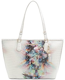 Medium Asher Ombre Melbourne Embossed Leather Tote